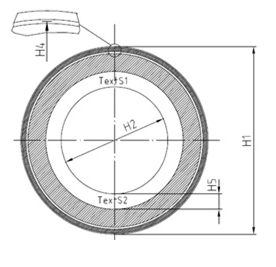 PT5S 33-2500  Code disc for iC-PT3325